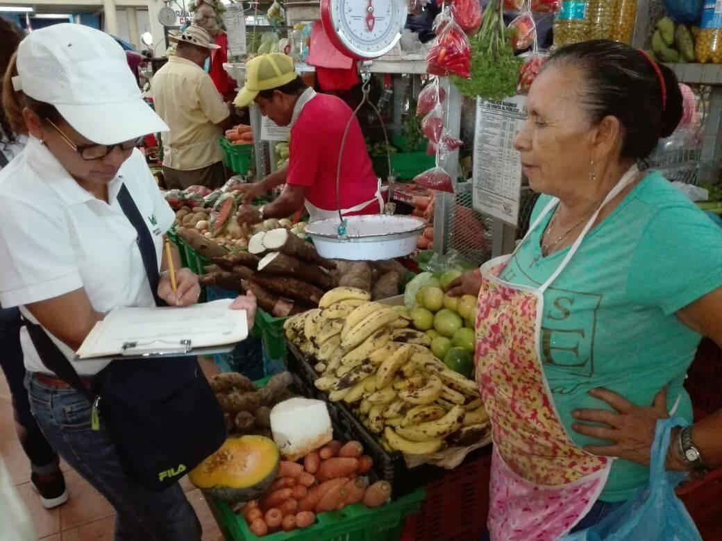 Recolección de información en los principales mercados públicos en Panamá.