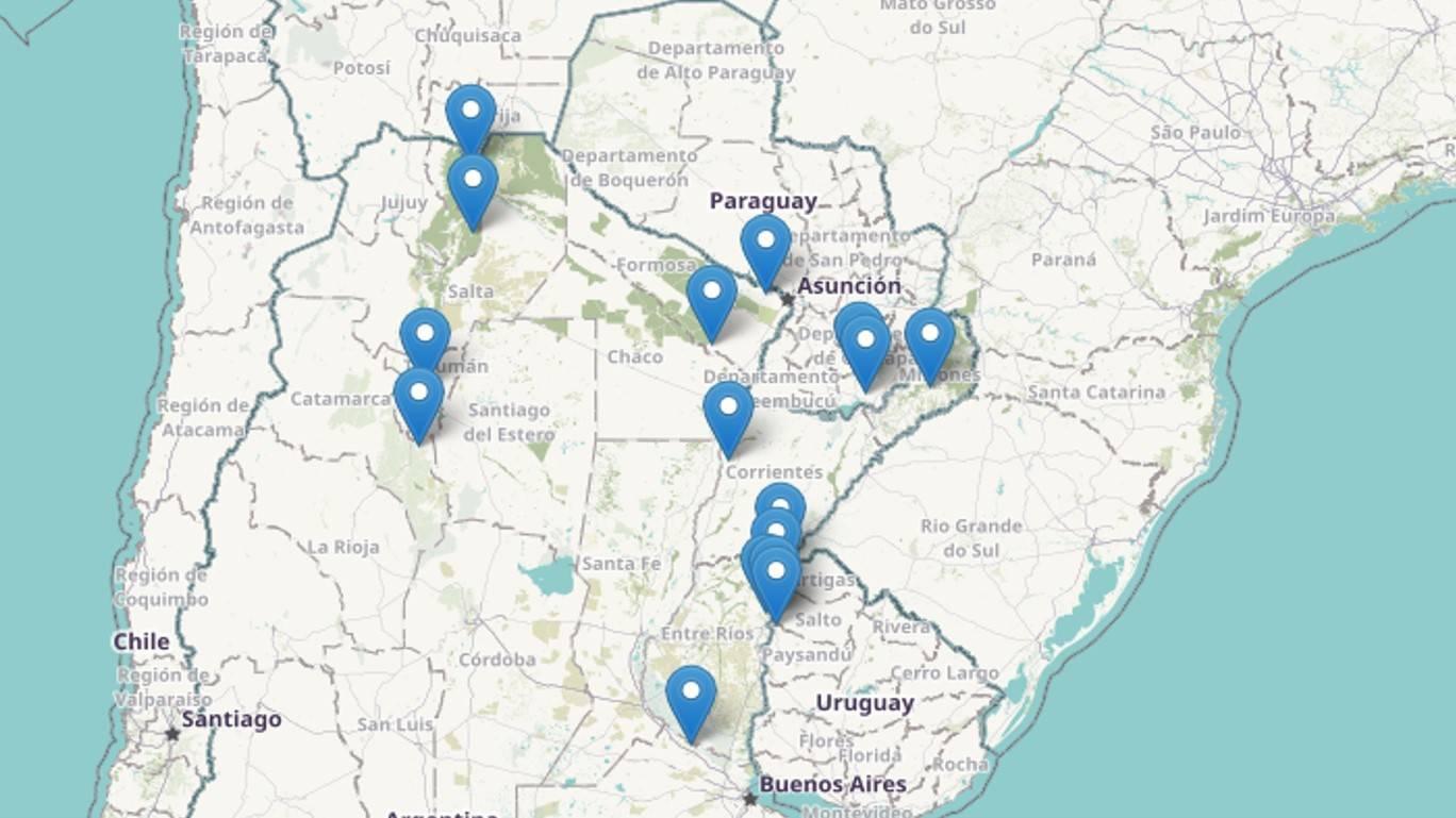 Mapa de sitios de la plataforma